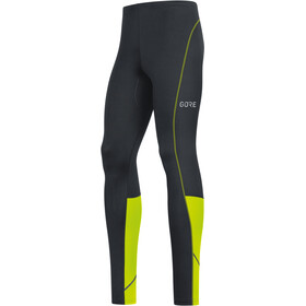 GORE WEAR R3 Leggings Heren, black/neon yellow